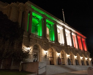 SF's City Hall Dresses Italian for the Concert of the Two Bays